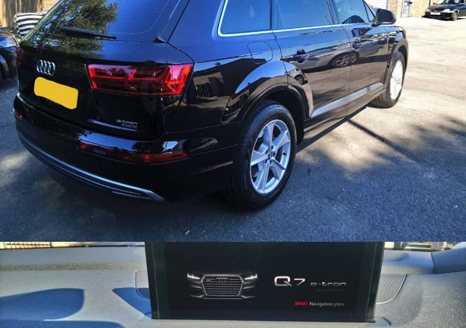 2018 Audi Q7 E-Tron window tinting done to improve visual look