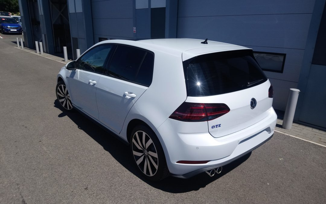 2018 VW Golf GTE had windows tinted by Unique Tint Ltd ☺