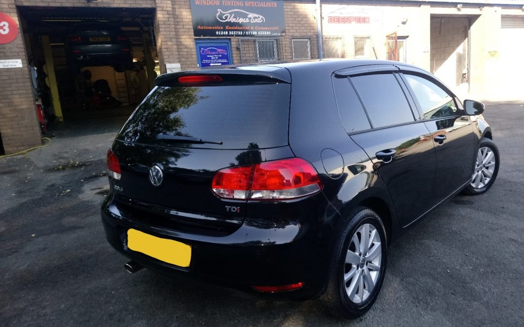 Window Tinting in Limo on this Golf MK6