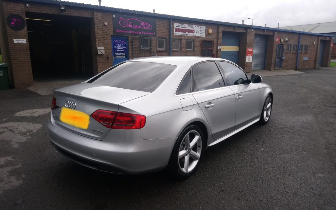 AUDI A4 tinted in our garage