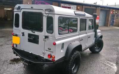 Landrover Defender 110 tinted to very high standard