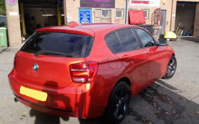 BMW 1 with limo tint