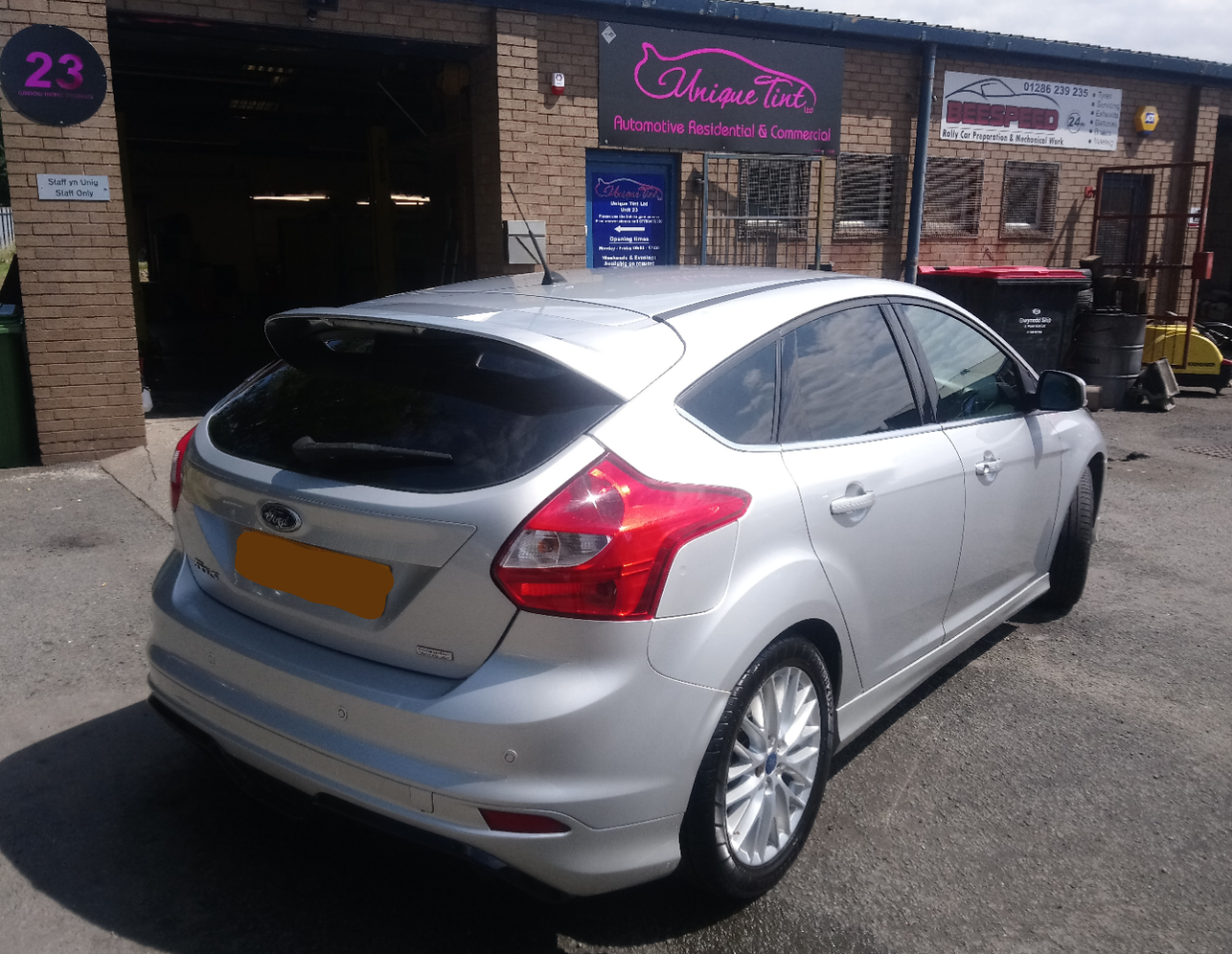 Ford Focus Tinted To Factory Standard Window Tinting Services In North Wales By Unique Tint Ltd