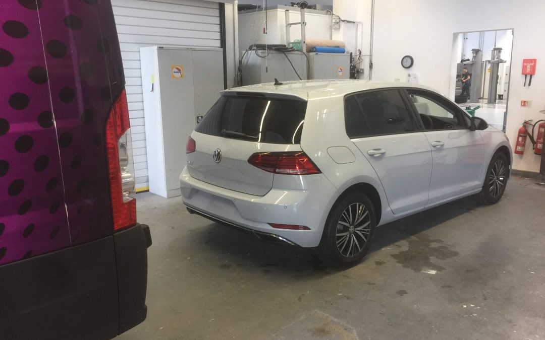 New VW Golf tinted with 15% film