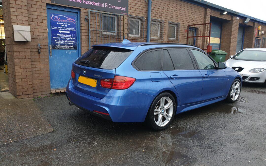 BMW Tourer tinted windows in limo black