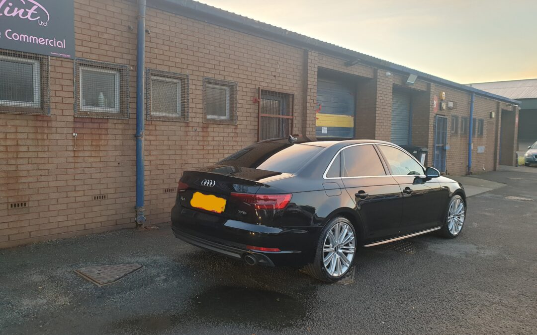 Audi A4 tinted with 15% film