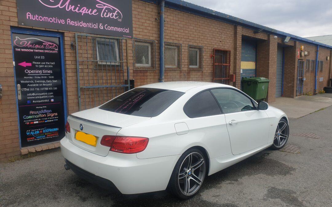 BMW E92 with perfect finish on dot matrix area