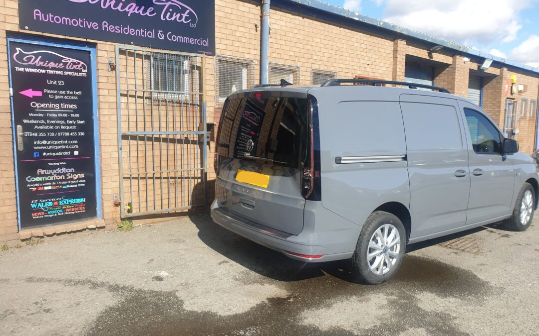 NEW VW Caddy rear screen tinted